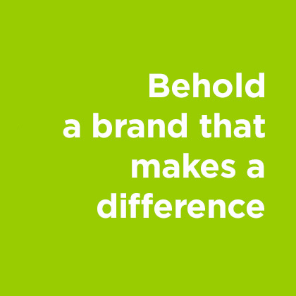 Brand that makes a difference